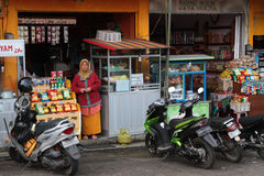 Store and bikes in Bedugul Stock Photography