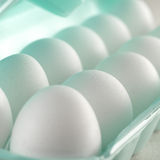 Store bought white eggs closeup Royalty Free Stock Image