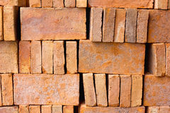 Store of bricks ready for building or sale Stock Photos