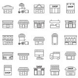 Store and building  icon set Stock Images