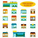 Store building icons set Royalty Free Stock Photo