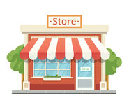 Store building Isolated on white Royalty Free Stock Photo