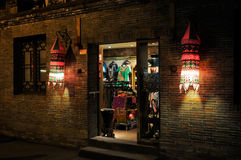 Store with Chinese lanterns Royalty Free Stock Photos