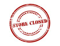 Store closed. Rubber stamp with text store closed inside,  illustration Royalty Free Stock Images