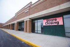 Store closing Royalty Free Stock Photos