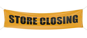 Store closing concept Stock Photography