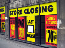 Store closing Royalty Free Stock Image