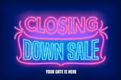 Store closing sale vector banner, illustration Stock Photography