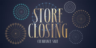 Store closing sale vector illustration, background Stock Photo