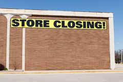 Store Closing Sign on a department store going out of business IV. Store Closing Sign on a department store going out of business Royalty Free Stock Photography