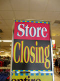 Store Closing sign inside Downtown Honolulu Macy Stock Photo