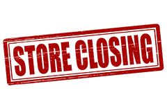 Store closing. Stamp with text store closing inside,  illustration Royalty Free Stock Images