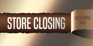 Store closing vector banner, illustration, flyer, poster Royalty Free Stock Photos