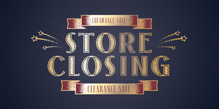 Store closing vector illustration, background Royalty Free Stock Photos