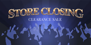 Store closing vector illustration, banner Stock Photography