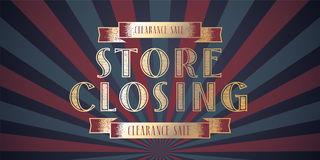 Store closing vector illustration Royalty Free Stock Photo