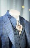 Store clothes dummy in suit shop. Store clothes dummy in men's suit shop photo Stock Images