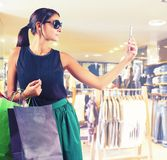 Store clothing selfie Royalty Free Stock Photos