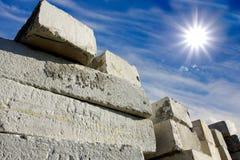 Store concrete blocks Royalty Free Stock Photo