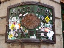 Store detail in Barcelona corner street. In gotic barrio Stock Images