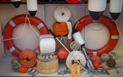 Store display of marine items Royalty Free Stock Image