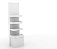Store display stand. Display stand with blank signage Royalty Free Stock Photography