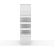 Store display stand. Display stand with blank signage Royalty Free Stock Image