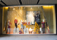 Store, display window, Christmas theme Stock Image
