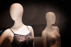 Store dummy shop fashion lingerie mannequins Royalty Free Stock Image