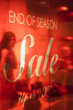 Store end of season sale signs Stock Photography