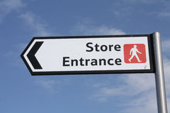 Store entrance sign Stock Image