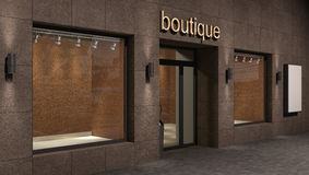 Store exterior,  business concept Royalty Free Stock Photo