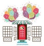Store facade royalty free illustration