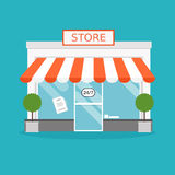 Store facade. Vector illustration of store building.  Stock Image