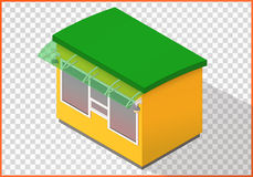 Store flat vector, kiosk 3d Royalty Free Stock Images