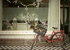 Store fron with bicycle in the netherlands Stock Photo