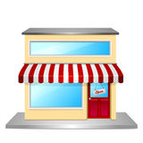 Store front. Detailed illustration of a store front Royalty Free Stock Image