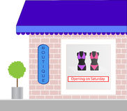Store Front Boutique Window Display Royalty Free Stock Images