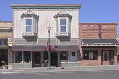 Store front businesses in Walla Walla WA. Store front businesses in downtown Walla Walla Washington state stock photos
