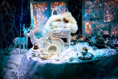 Store front in Christmas style Royalty Free Stock Image