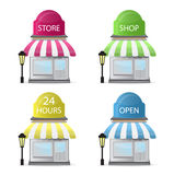 Store Front Icons Stock Images