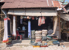 Store front of ship chandler. Store front of local ship chandler in Myeik, Myanmar Stock Photos