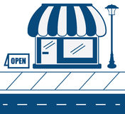 Store Front Sidewalk Royalty Free Stock Image