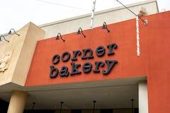 Corner Bakery restaurant sign royalty free stock photos