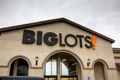 Big Lots department store sign royalty free stock images
