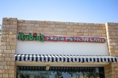 Rubio`s restaurant sign