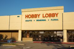 Store front sign for Hobby Lobby royalty free stock image
