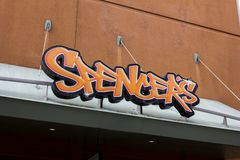 Spener`s retail store sign stock photo