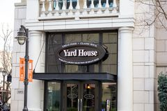 Yard House restaurant sign royalty free stock photos