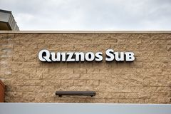 Quiznos Sub restaurant sign royalty free stock images